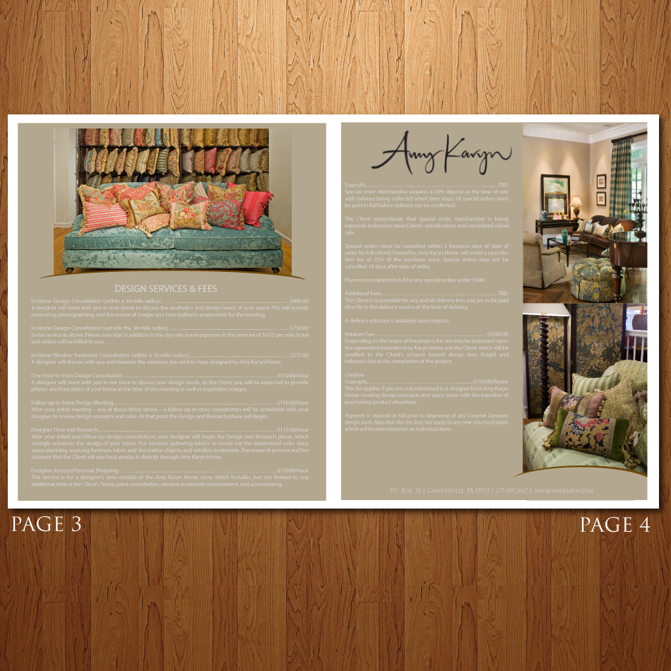 Print Design by moonflower - Entry No. 55 in the Print Design Contest Print Design Needed for Interior Design Company Amy Karyn Inc..