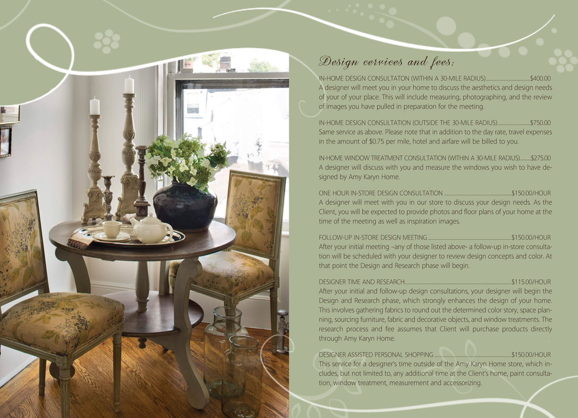 Print Design Needed For Interior Company Amy Karyn Inc