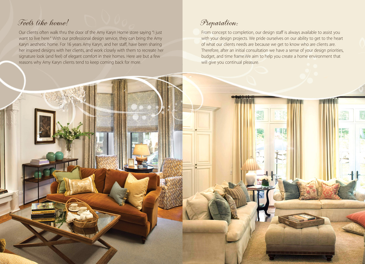 Print design needed for interior design company amy karyn for Interior design companies in usa