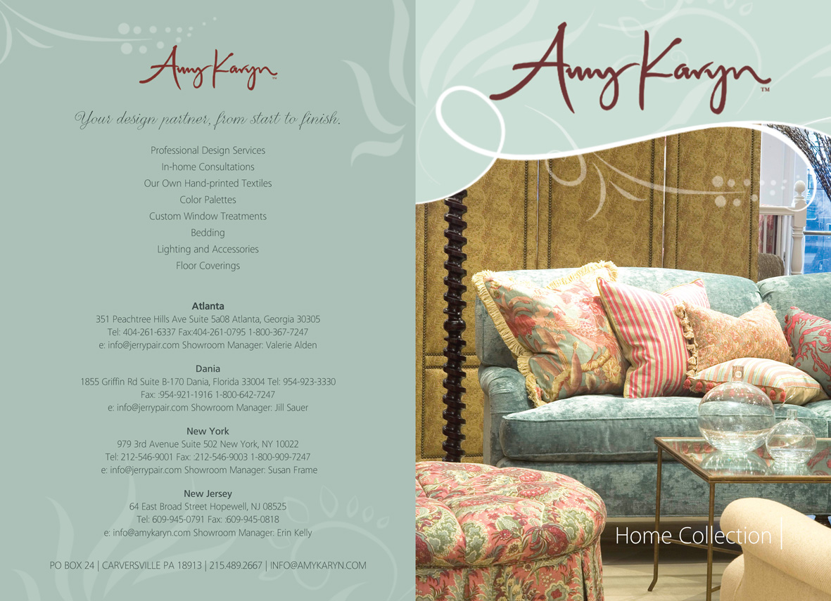 Print design needed for interior design company amy karyn for Home interiors gifts inc company information