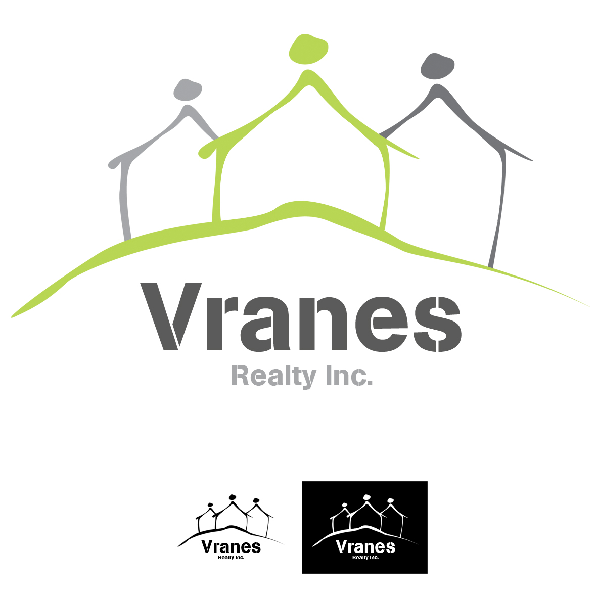 Logo Design by mersina - Entry No. 52 in the Logo Design Contest Logo Design Needed for Exciting New Company Vranes Realty Inc..