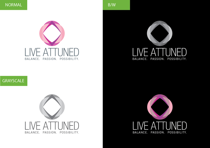 Logo Design by Christian Nascimento - Entry No. 61 in the Logo Design Contest New Logo Design for Live Attuned.