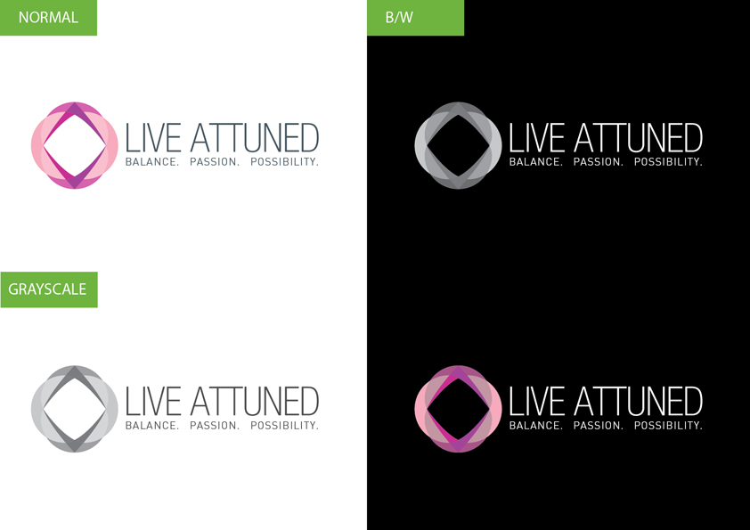 Logo Design by Christian Nascimento - Entry No. 62 in the Logo Design Contest New Logo Design for Live Attuned.