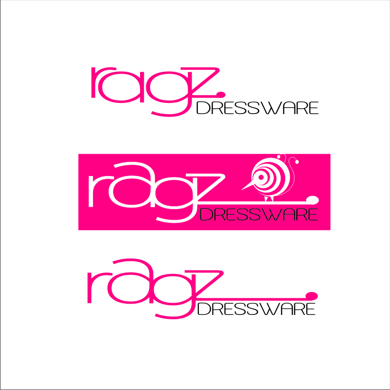 Logo Design by SquaredDesign - Entry No. 294 in the Logo Design Contest Ragz Dressware.