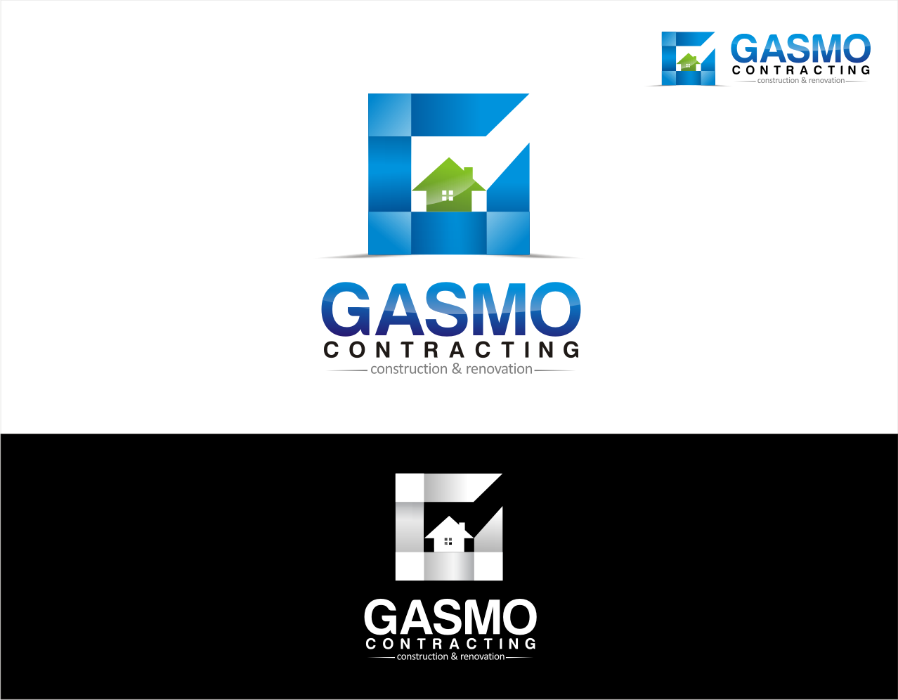 Logo Design by walangsangit - Entry No. 28 in the Logo Design Contest Professional Logo Design for Gasmo Contracting.