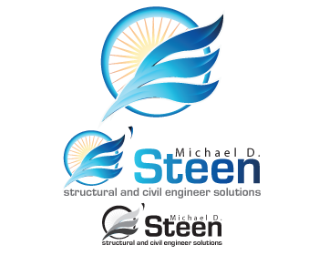 Logo Design by iclanproduction - Entry No. 5 in the Logo Design Contest Michael D. O'Steen, P.E.  Logo Design.