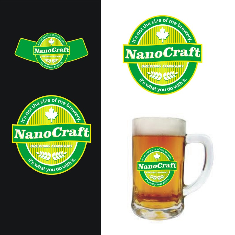 Logo Design by Private User - Entry No. 43 in the Logo Design Contest Unique Logo Design Wanted for NanoCraft Brewing Company.