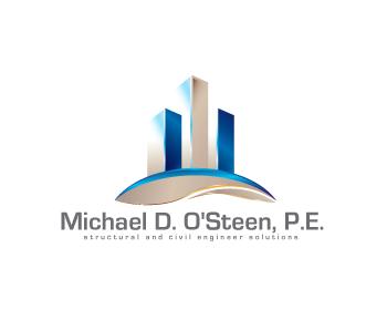 Logo Design by iclanproduction - Entry No. 14 in the Logo Design Contest Michael D. O'Steen, P.E.  Logo Design.