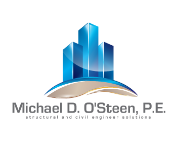 Logo Design by iclanproduction - Entry No. 15 in the Logo Design Contest Michael D. O'Steen, P.E.  Logo Design.