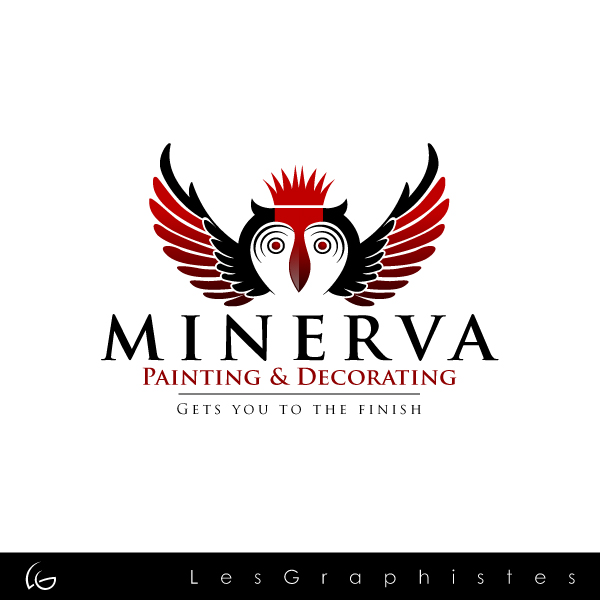 Logo Design by Les-Graphistes - Entry No. 4 in the Logo Design Contest New Logo Design for Minerva Painting & Decorating Ltd..