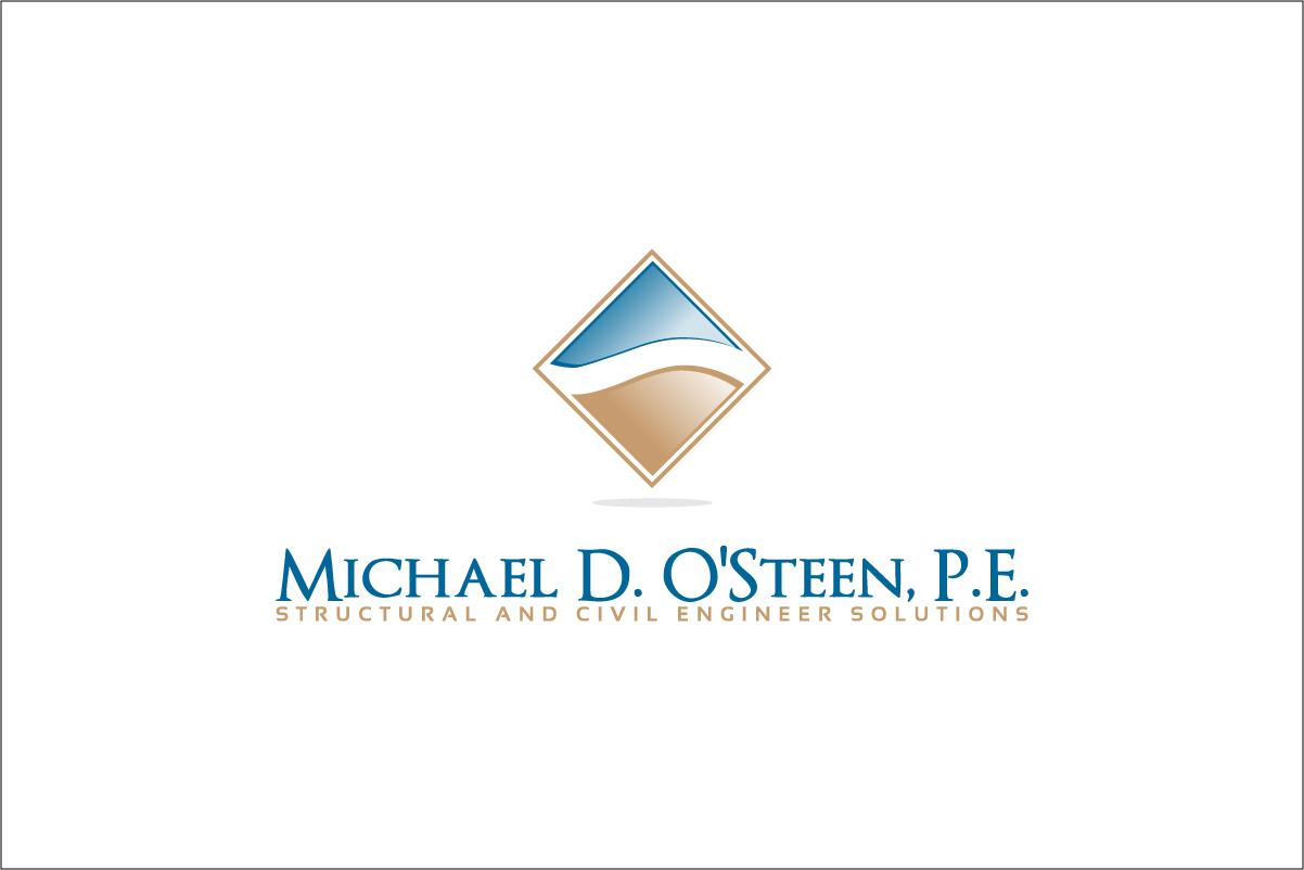 Logo Design by CreativeTemp - Entry No. 31 in the Logo Design Contest Michael D. O'Steen, P.E.  Logo Design.