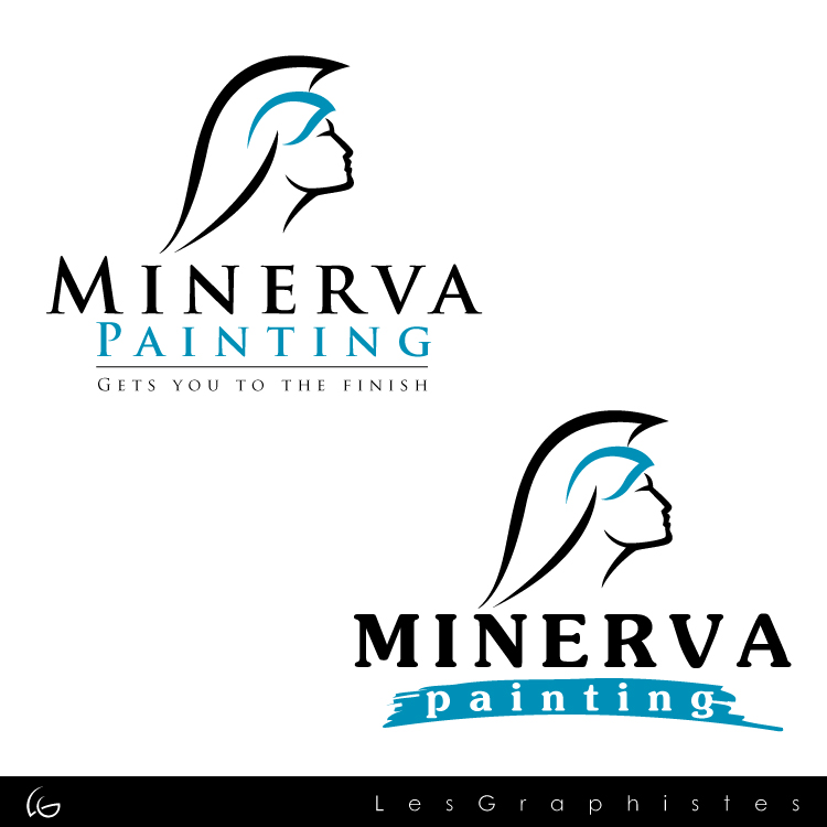 Logo Design by Les-Graphistes - Entry No. 7 in the Logo Design Contest New Logo Design for Minerva Painting & Decorating Ltd..