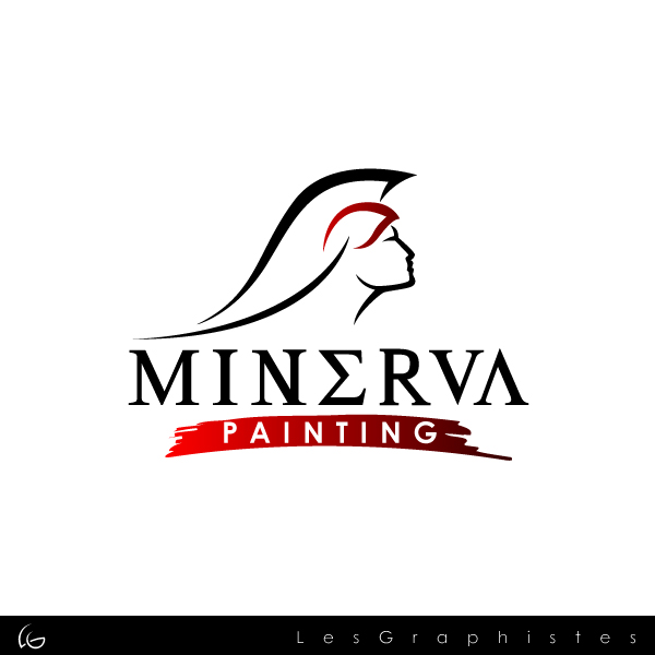 Logo Design by Les-Graphistes - Entry No. 8 in the Logo Design Contest New Logo Design for Minerva Painting & Decorating Ltd..