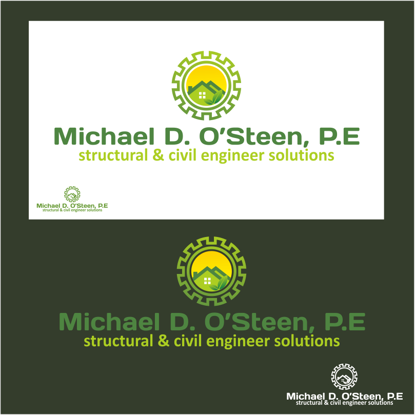 Logo Design by crazyeye - Entry No. 38 in the Logo Design Contest Michael D. O'Steen, P.E.  Logo Design.