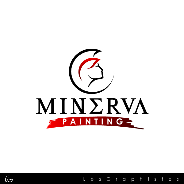 Logo Design by Les-Graphistes - Entry No. 9 in the Logo Design Contest New Logo Design for Minerva Painting & Decorating Ltd..