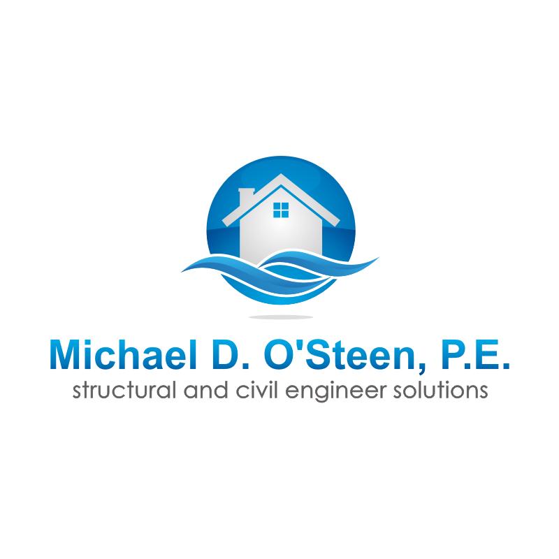 Logo Design by kotakdesign - Entry No. 45 in the Logo Design Contest Michael D. O'Steen, P.E.  Logo Design.