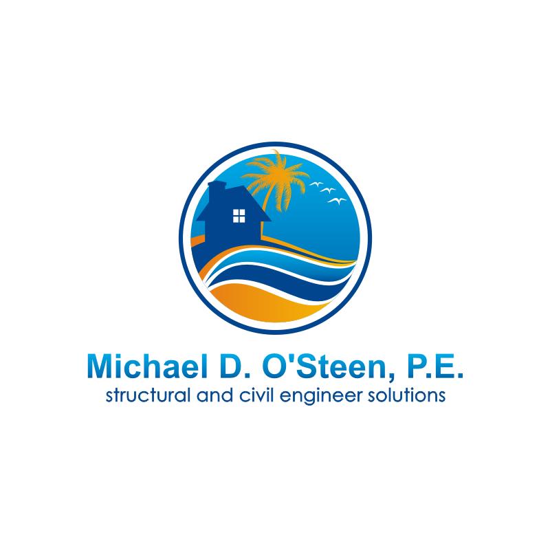 Logo Design by kotakdesign - Entry No. 47 in the Logo Design Contest Michael D. O'Steen, P.E.  Logo Design.