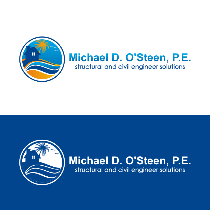 Logo Design by kotakdesign - Entry No. 48 in the Logo Design Contest Michael D. O'Steen, P.E.  Logo Design.