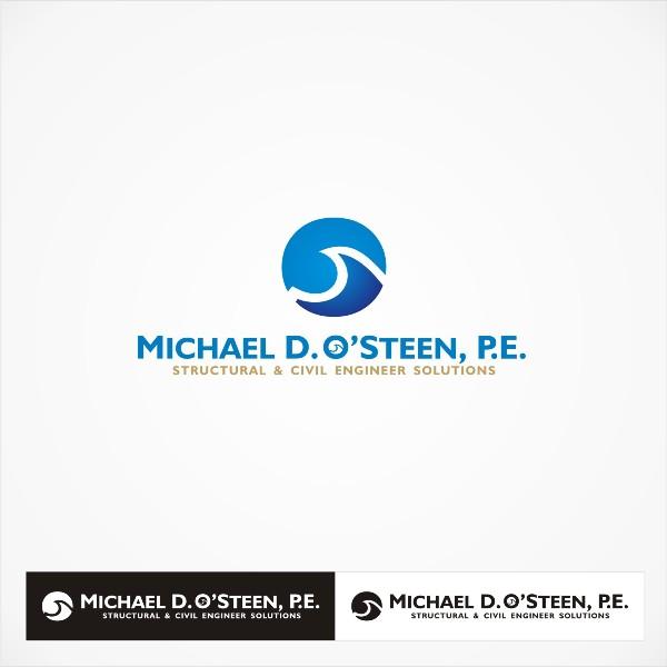 Logo Design by Tri - Entry No. 49 in the Logo Design Contest Michael D. O'Steen, P.E.  Logo Design.