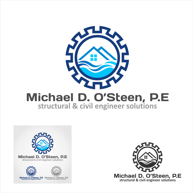 Logo Design by crazyeye - Entry No. 53 in the Logo Design Contest Michael D. O'Steen, P.E.  Logo Design.
