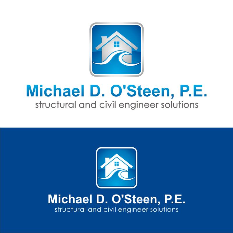 Logo Design by kotakdesign - Entry No. 54 in the Logo Design Contest Michael D. O'Steen, P.E.  Logo Design.