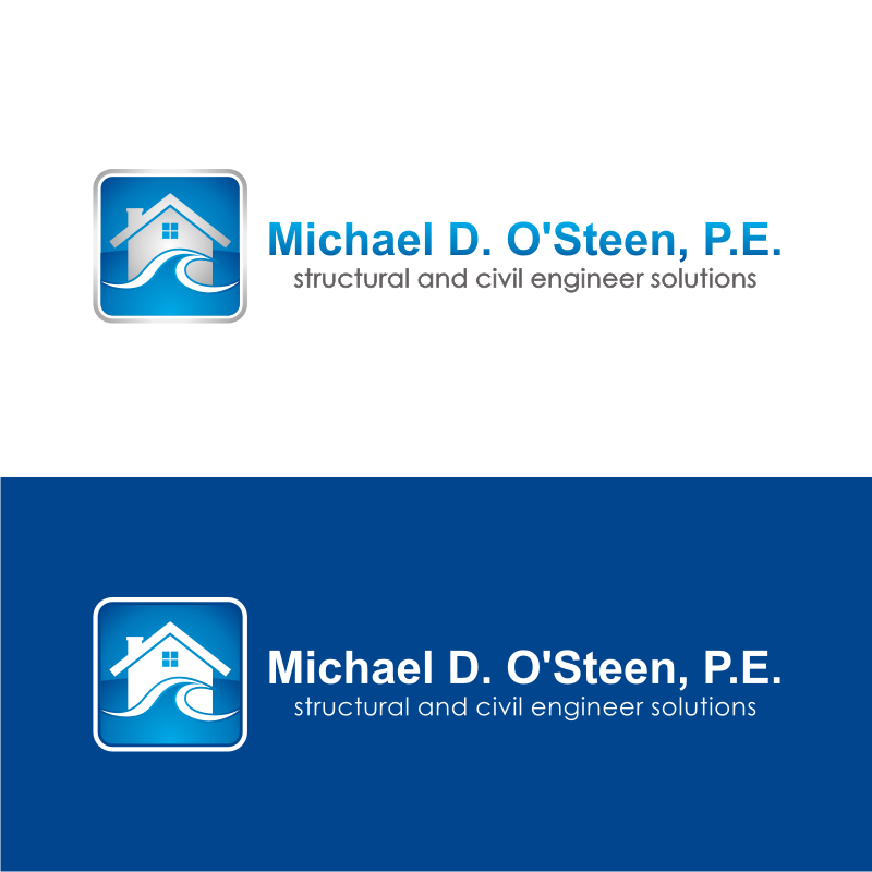 Logo Design by kotakdesign - Entry No. 55 in the Logo Design Contest Michael D. O'Steen, P.E.  Logo Design.