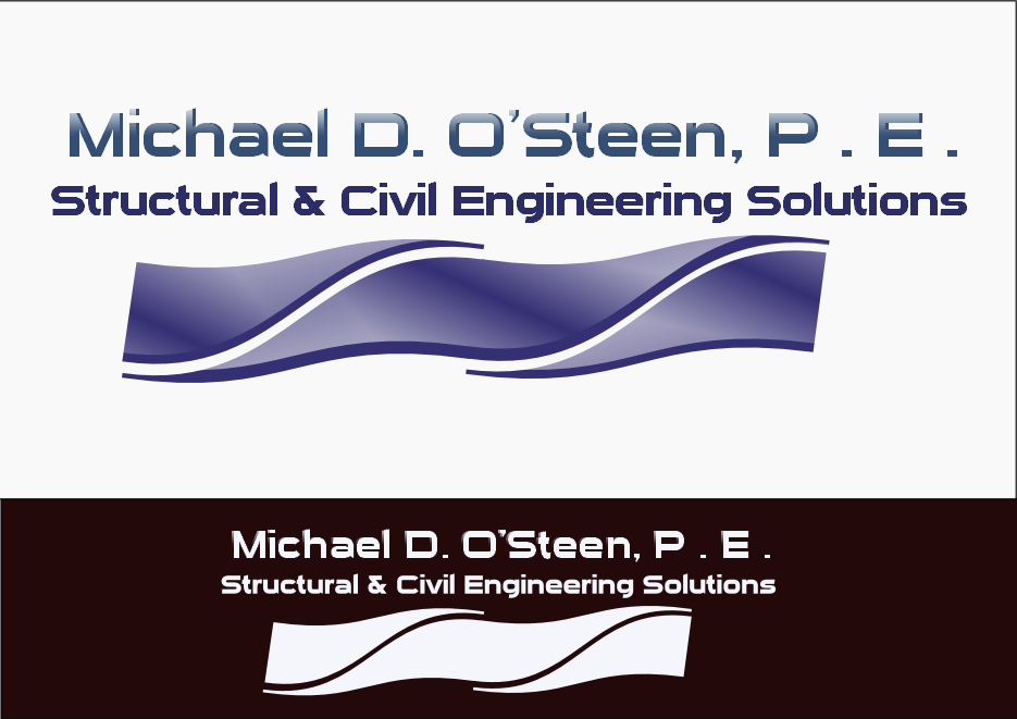 Logo Design by Heri Susanto - Entry No. 56 in the Logo Design Contest Michael D. O'Steen, P.E.  Logo Design.