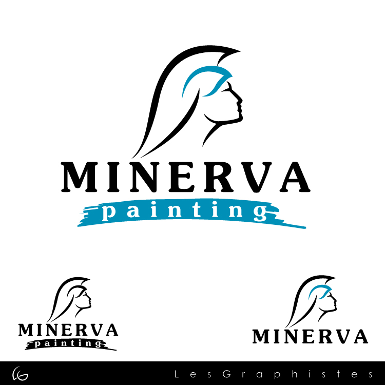 Logo Design by Les-Graphistes - Entry No. 10 in the Logo Design Contest New Logo Design for Minerva Painting & Decorating Ltd..