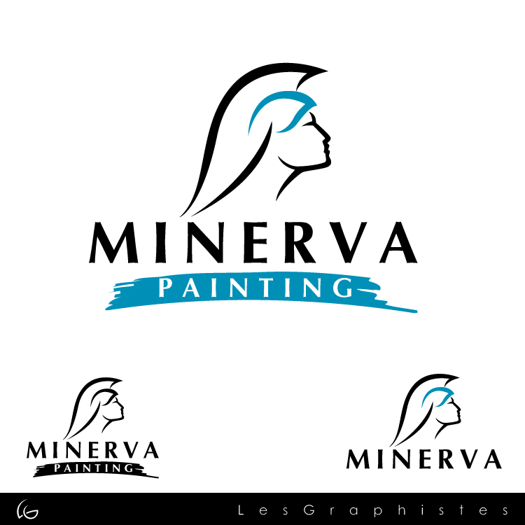 Logo Design by Les-Graphistes - Entry No. 11 in the Logo Design Contest New Logo Design for Minerva Painting & Decorating Ltd..