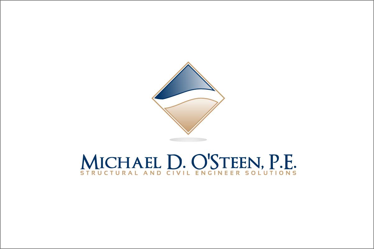 Logo Design by CreativeTemp - Entry No. 64 in the Logo Design Contest Michael D. O'Steen, P.E.  Logo Design.