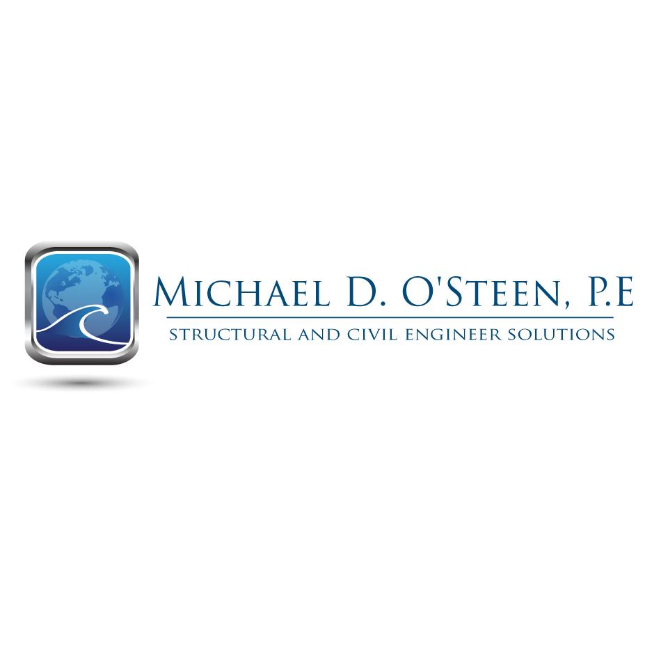 Logo Design by moonflower - Entry No. 65 in the Logo Design Contest Michael D. O'Steen, P.E.  Logo Design.