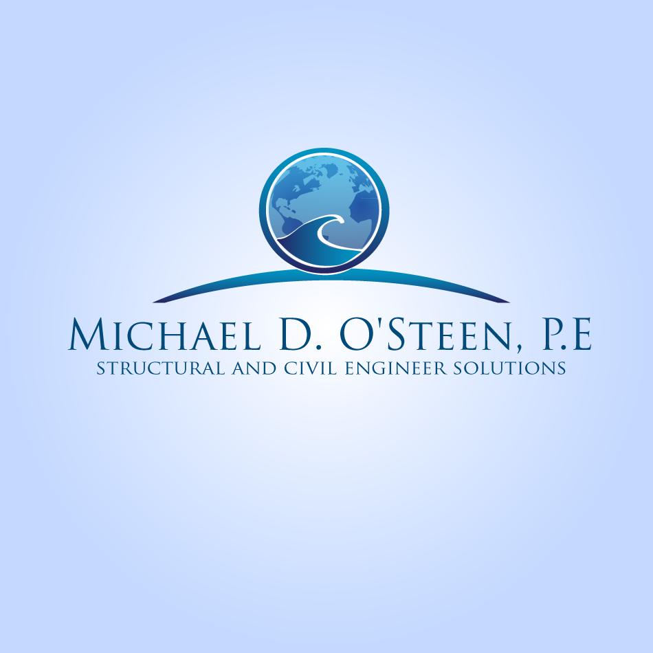 Logo Design by moonflower - Entry No. 66 in the Logo Design Contest Michael D. O'Steen, P.E.  Logo Design.