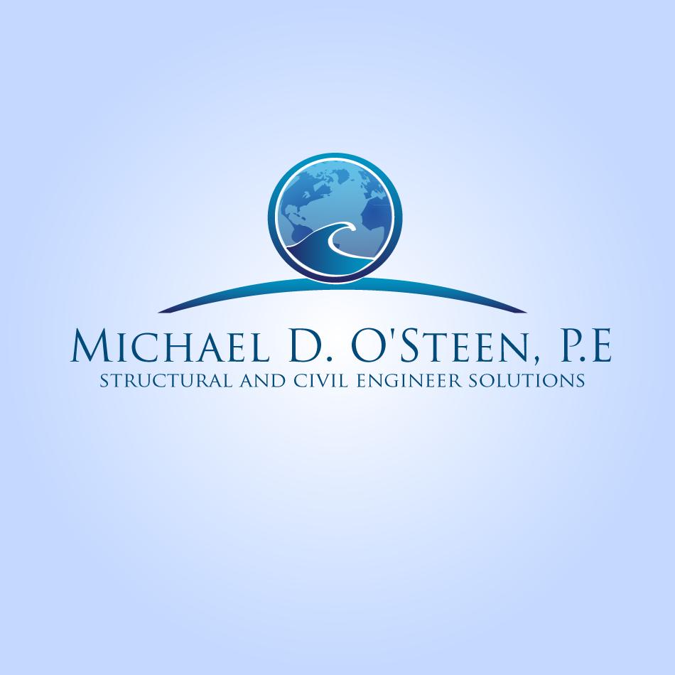 Logo Design by moonflower - Entry No. 66 in the Logo Design Contest Michael D. O'Steen, P.E.  Logo Design.