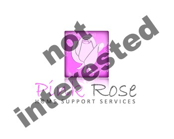 Logo Design by CJ - Entry No. 37 in the Logo Design Contest Pink Rose Home Support Services.