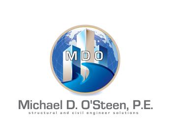 Logo Design by iclanproduction - Entry No. 70 in the Logo Design Contest Michael D. O'Steen, P.E.  Logo Design.