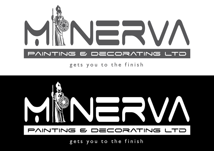 Logo Design by Riyaz - Entry No. 23 in the Logo Design Contest New Logo Design for Minerva Painting & Decorating Ltd..