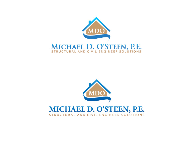 Logo Design by ddamian_dd - Entry No. 82 in the Logo Design Contest Michael D. O'Steen, P.E.  Logo Design.