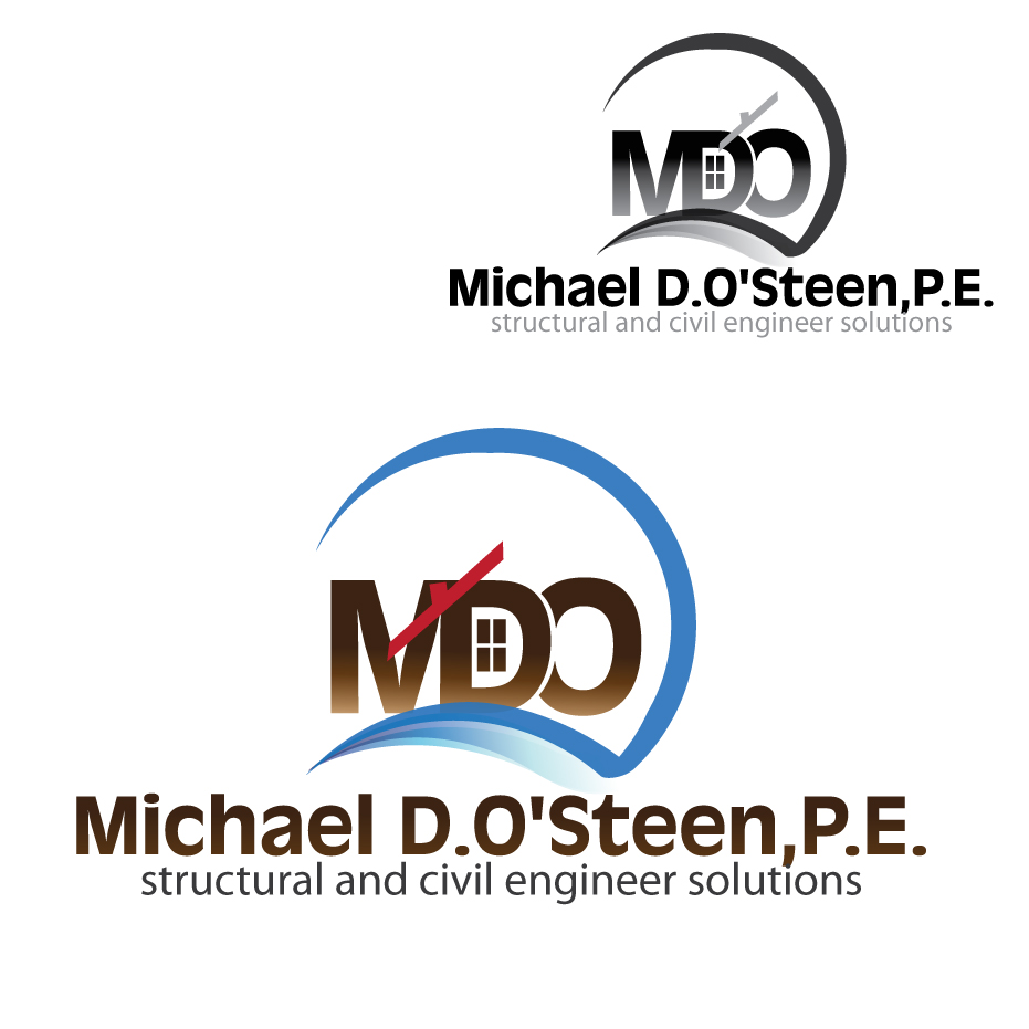 Logo Design by stormbighit - Entry No. 88 in the Logo Design Contest Michael D. O'Steen, P.E.  Logo Design.
