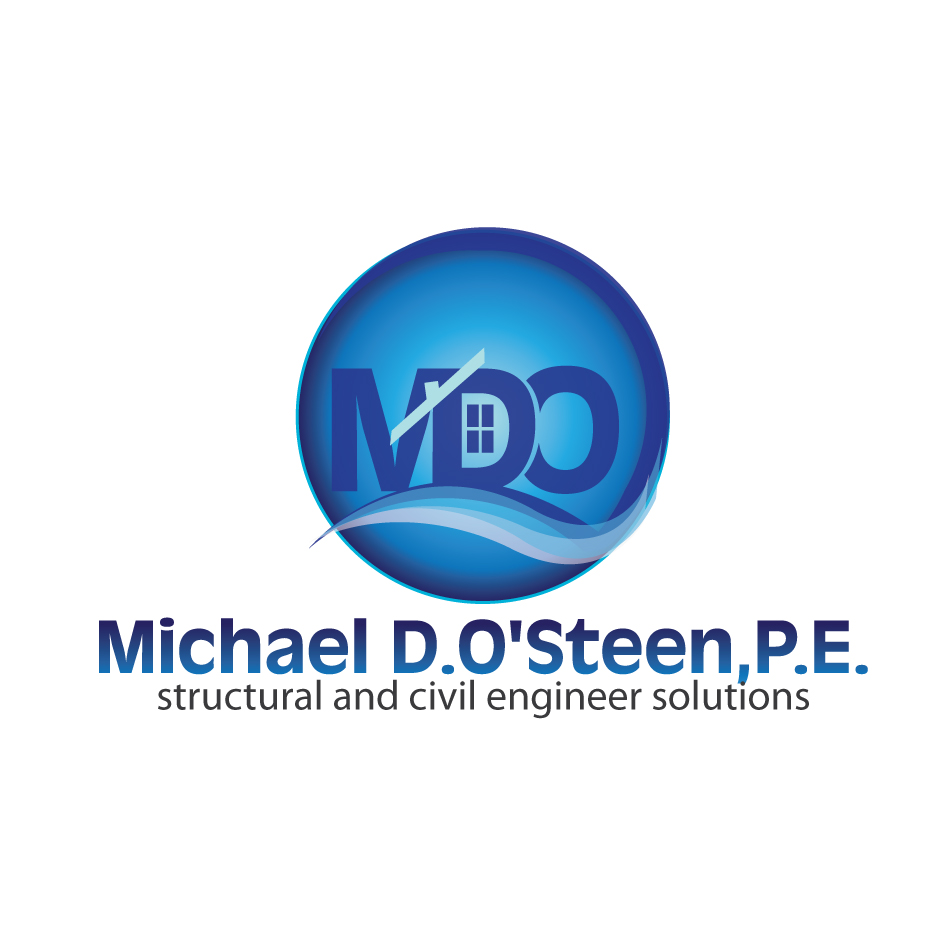Logo Design by stormbighit - Entry No. 90 in the Logo Design Contest Michael D. O'Steen, P.E.  Logo Design.