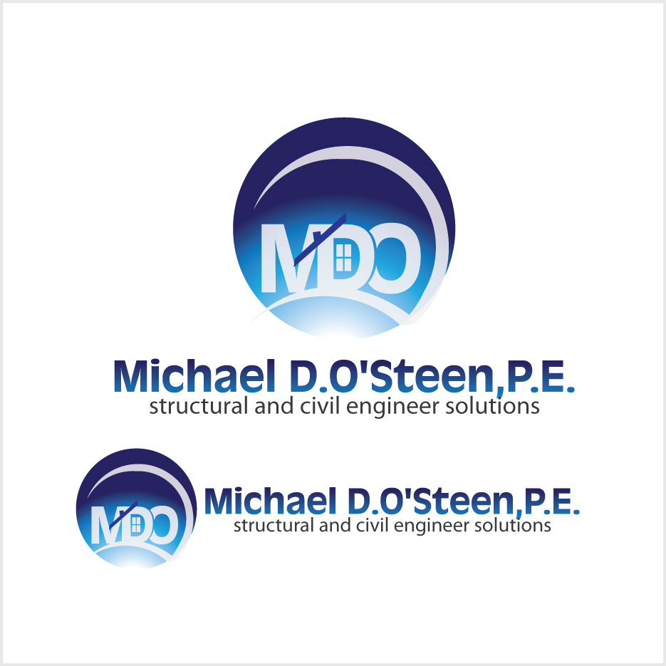 Logo Design by stormbighit - Entry No. 91 in the Logo Design Contest Michael D. O'Steen, P.E.  Logo Design.