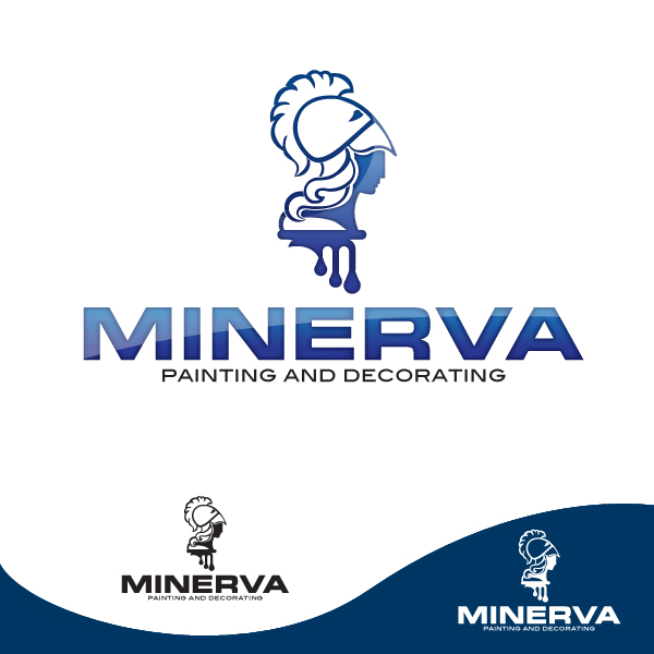 Logo Design by storm - Entry No. 27 in the Logo Design Contest New Logo Design for Minerva Painting & Decorating Ltd..