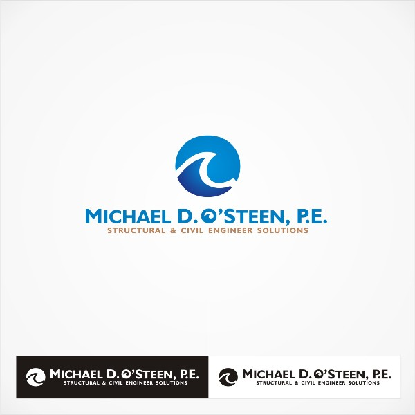 Logo Design by Tri - Entry No. 96 in the Logo Design Contest Michael D. O'Steen, P.E.  Logo Design.