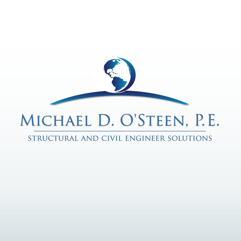 Logo Design by moonflower - Entry No. 97 in the Logo Design Contest Michael D. O'Steen, P.E.  Logo Design.