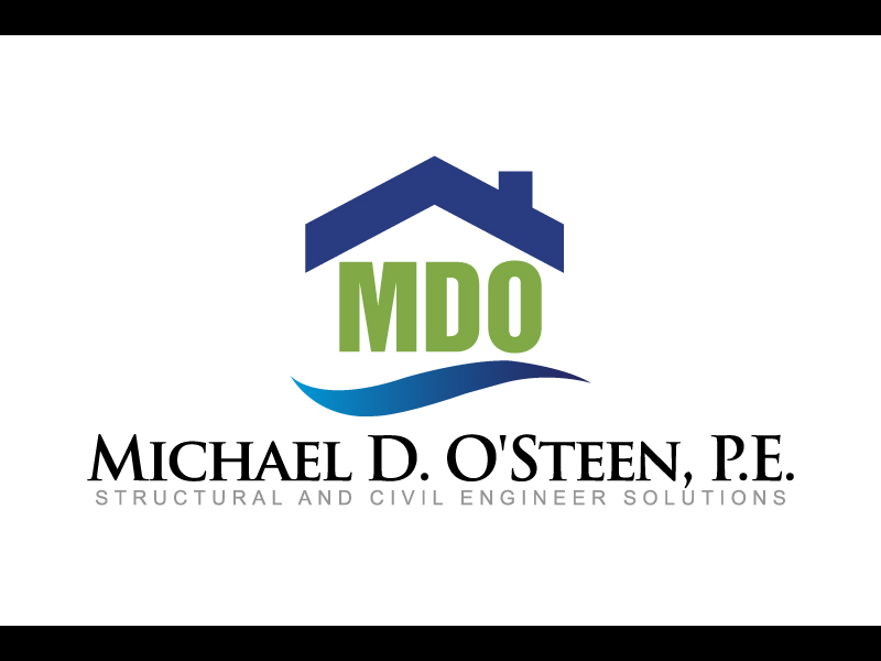 Logo Design by caturro - Entry No. 106 in the Logo Design Contest Michael D. O'Steen, P.E.  Logo Design.