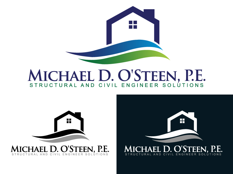 Logo Design by caturro - Entry No. 107 in the Logo Design Contest Michael D. O'Steen, P.E.  Logo Design.