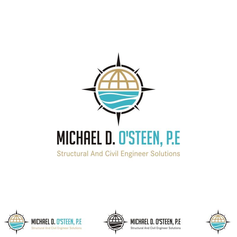 Logo Design by Private User - Entry No. 112 in the Logo Design Contest Michael D. O'Steen, P.E.  Logo Design.