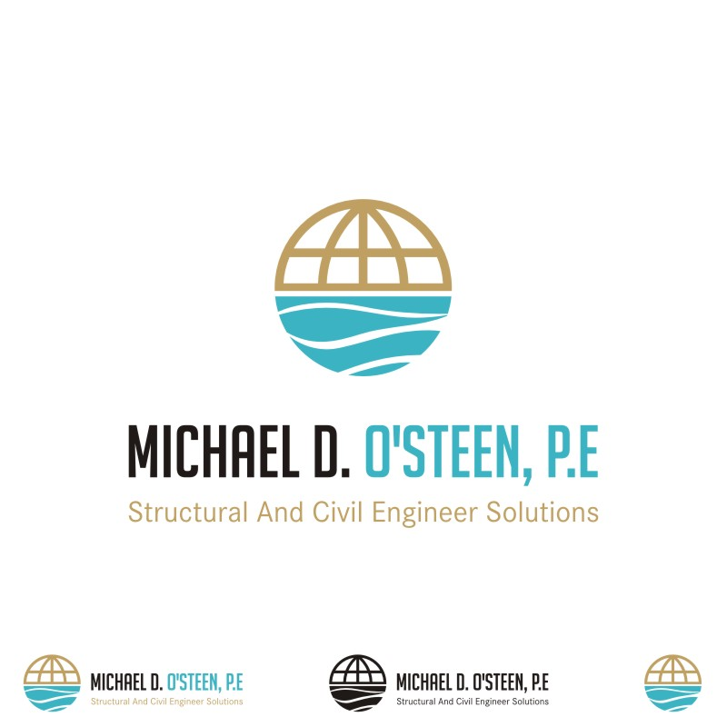 Logo Design by Private User - Entry No. 113 in the Logo Design Contest Michael D. O'Steen, P.E.  Logo Design.