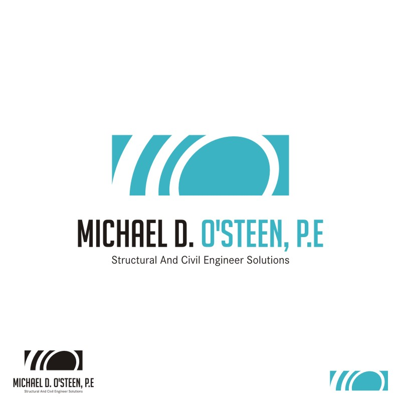 Logo Design by Private User - Entry No. 115 in the Logo Design Contest Michael D. O'Steen, P.E.  Logo Design.