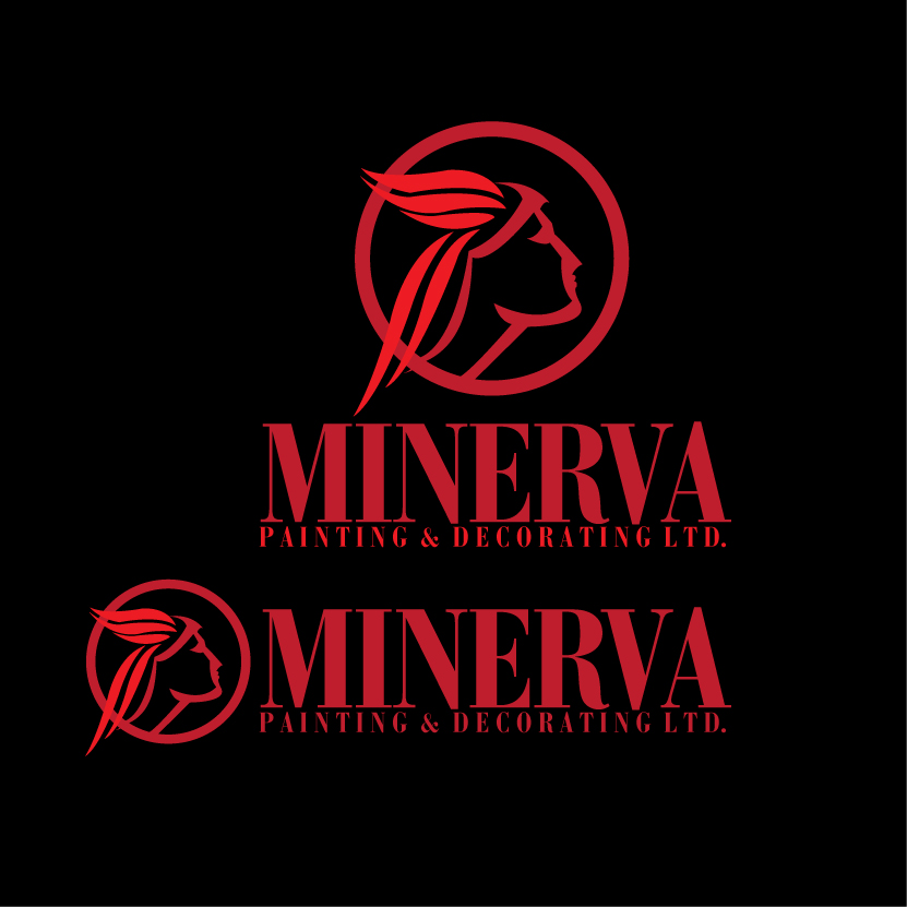 Logo Design by stormbighit - Entry No. 32 in the Logo Design Contest New Logo Design for Minerva Painting & Decorating Ltd..