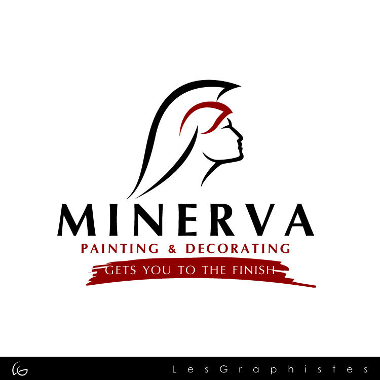Logo Design by Les-Graphistes - Entry No. 35 in the Logo Design Contest New Logo Design for Minerva Painting & Decorating Ltd..